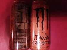Monster Energy Drink Java Salted Caramel 15oz Cans. 2 Total Full Cans Lot