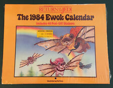 Star Wars Vintage Return of the Jedi Sealed Ewok Calendar w/Stickers New 1984
