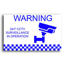 CCTV Surveillance Security Stickers - 5 Pack - Weather Resistant