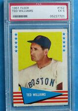 1961 Fleer Baseball Greats #152 Ted Williams Boston Red Sox EX PSA 5
