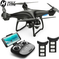 Holy Stone HS100 GPS Drone 1080P HD wifi Camera RC Quadcopter with 2 batteries