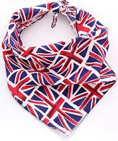 Union Jack British Puppy Dog Bandana/Collar 100% Cotton&Made in UK