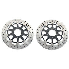 2X Front Brake Discs Rotors For Suzuki TL1000R 98-03 TL1000S 97-01 GSX1400 01-08