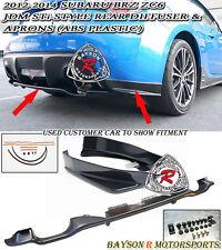 OE-Style Rear Diffuser + STi Rear Lip Aprons Fits 12-18 Subaru BRZ
