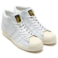 ADIDAS ORIGINALS PRO MODEL VINTAGE DLX MENS WHITE TRAINERS - SIZE 6.5 RRP £84.99