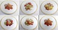 E&R Germany 1886 Golden Crown Set 6 Harvest Dessert Fruit Thanksgiving Plates