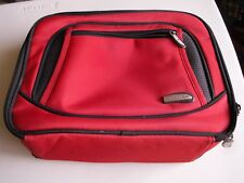 Travelon Toiletry Cosmetic Travel Bag  Red Lots of Compartments