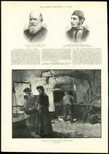 1888-Antiguo impresión Cornwall bakehouse Adrian Stokes Charles Rhind (245)