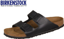 41e9822cd8e BIRKENSTOCK Mens Arizona 2 Strap Slide Sandals Black Birko-Flor P5179 US 8  8.5 -