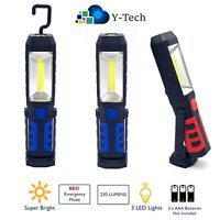 LED Work Light COB Inspection Lamp Torch Emergency Flexible Magnetic Hands Free