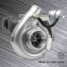 T04 T3/T4 .63A/R T3 4BOLT INLET V-BAND DOWNPIPE TURBO TURBOCHARGER 8LB WASTEGATE