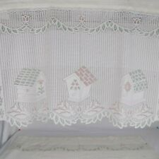 Set of 2 JC Penney Lace Curtains Country Living Birdhouse Bird Made in USA