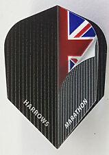 Harrows Marathon Grey Union Jack Standard Dart Flights