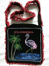 RETRO SHOULDER BAG FLORIDA FLAMINGO DESIGN