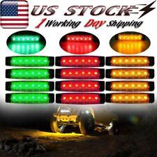 12 Pods Led Rock Lights Fender Underbody Lights For Jeep Offroad Truck Atv Utv