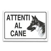 ds Cartello Segnaletico Attenti Al Cane 30x20Cm In Pvc Targa dfh