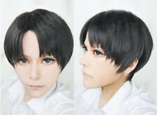 Attack On Titan Levi Cosplay Wigs Black Short Synthetic Hair Wig + Wig Cap