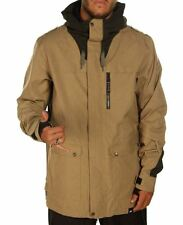 2015 NWT MEN RIDE 2.5L DELRIDGE SNOWBOARD JACKET $300 L dark khaki logo COCONA