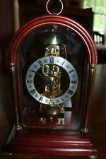 German-Made Skeleton Hermle Mantel Clock