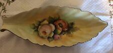 Vintage Beautiful Elegant Noritake Elongated Oval Dish w Handpainted Flowers