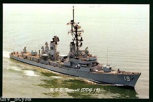 USS Tattnall DDG-19 postcard US Navy guided missile destroyer