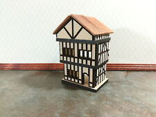 Dollhouse Miniature Handmade 1:144 Scale Medieval 3 Level Tudor House