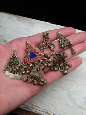 6x Vintage Tribal Pendant Assorted Lot SMALL Focals