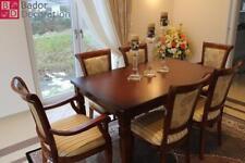 Esstisch EssZimmertisch Sitzgruppe Küchentisch 1Tisch + 6 Stühle Echt Holz Braun