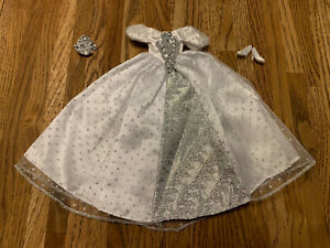 Vintage Brass Key Barbie Clone Outfit Dress Costume Ball Gown Costco White