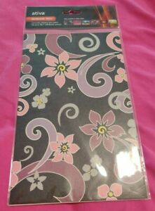 Ativan Netbook Skin Removable Adhesive Faux Leather Decorations Floral Designs