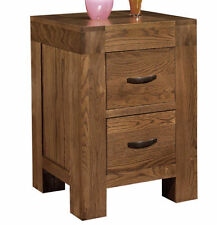 Oak Contemporary Bedside Tables & Cabinets with 2 Drawers