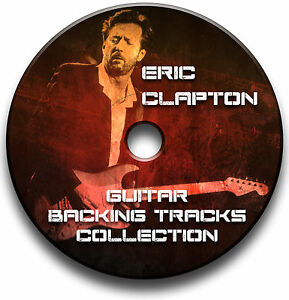 ERIC CLAPTON & CREAM STYLE ROCK GUITAR MP3 BACKING JAM TRACKS COLLECTION CD