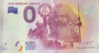 BILLET 0  EURO DDR MUSEUM BERLIN KARL MARX  2017 NUMERO 3900