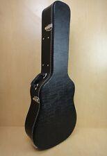 Acoustic Guitar Hardshell Case FIt Most Acoustic Guitar,Key Lock, Black WC-100
