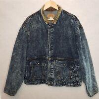 Levis Acid Wash Denim Jean Jacket Mens XLarge USA 75073 0227 Grunge Streetwear