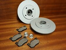 RENAULT 5 GT TURBO NEW STANDARD REAR BRAKE DISCS FITTED WHEEL BEARINGS + PADS