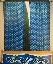 ~ Ford - LOGO CURTAINS BLIND BED ROOM MAN CAVE GARAGE Falcon *Ford Stock No More