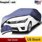 18ft Full Sedan Fit Car Cover Outdoor PEVA Water Sun Dust UV Proof w/Lock Blue  for sale