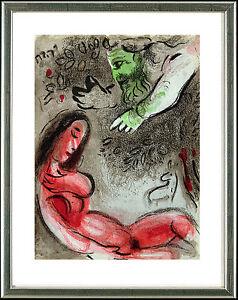 Marc Chagall, Original Litho, Eva wird von Gott verdammt / Eve, God, 1960