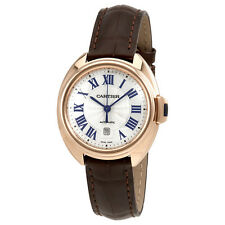 Cartier Cle Automatic Flinque Sunray Dial Ladies Watch WGCL0010