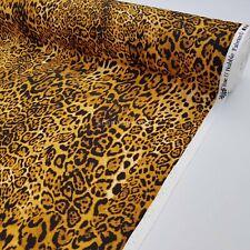 Designer ROSE & HUBBLE 100% Cotton Animal Skin Brown Leopard Print Dress Fabric