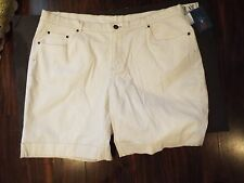 Denim and Co OFF WHITE DENIM LADIES SIZE 24 SHORTS NWT QVC