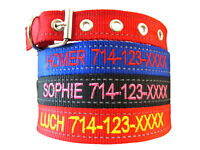 Custom Embroidered Reflective Personalized Nylon Dog Pin Buckle Dog Collars