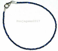 "Lapis Lazuli Gemstone Rondelle Faceted Beaded Jewelry 5-10"" Bracelet 2 mm GTH411"
