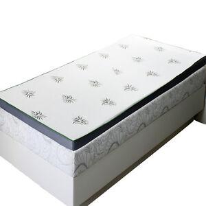 "Abripedic 2.5"" Cool Best Gel Memory Foam Mattress Topper Hypoallergenic"