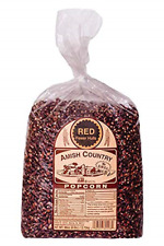 Amish Country Popcorn | 6 lb Bag | Red Popcorn Kernels | Old Fashioned with Red
