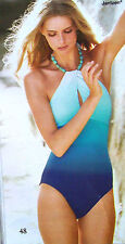 NWT JANTZEN TURQUOISE BEADED NECKLACE SWIMSUIT ONE-PIECE 10