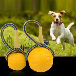 Dog Pet Toy Ball Accessories Rope Molar Stretch Ball Pull Ring Bite Toy T