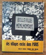 WILLY RONIS - BELLEVILLE MENILMONTANT - 1954 1ST EDITION SOFTCOVER WDJ & OBI