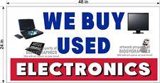 2' x 4' VINYL BANNER WE BUY USED ELECTRONICS HORIZONTAL